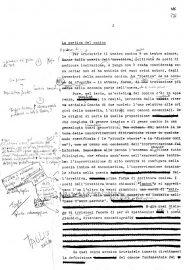 Critica del teatro puro, pagina dattiloscritta